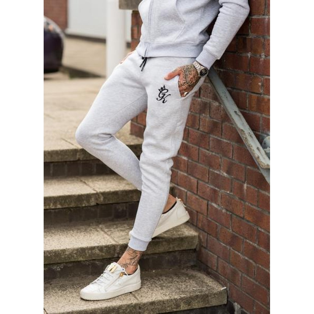 Gym King Tracksuit Bottoms - Snow Marl