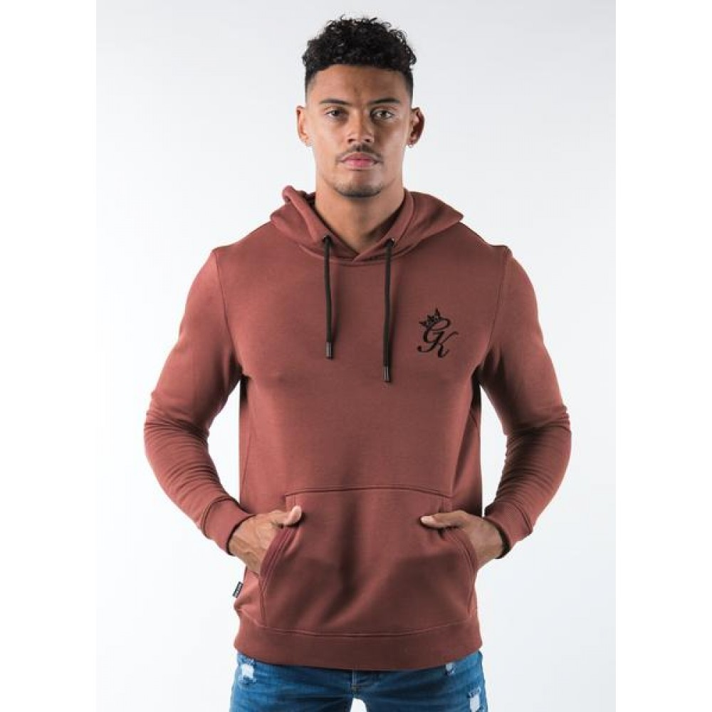 Gym King Pullover Hoodie - Baked Rouge