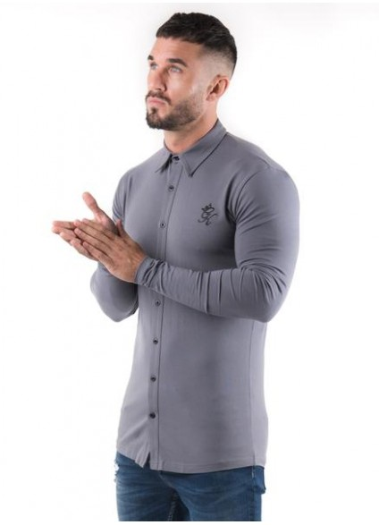 Gym King Longsleeve Jersey Shirt - Dark Grey