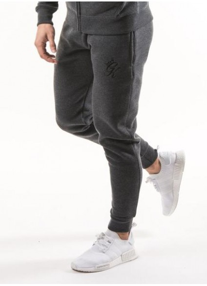 Gym King Tracksuit Bottoms - Charcoal Marl