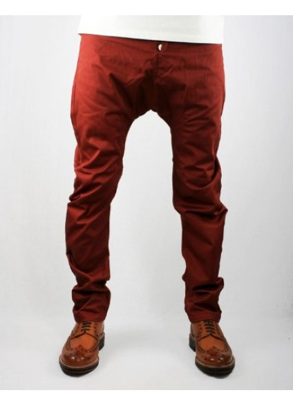 Humor Santiago Russet Brown Drop Crotch Chinos