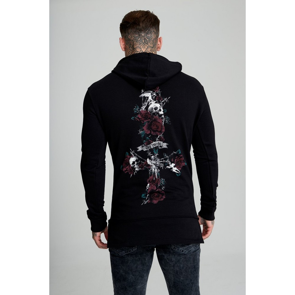 Judas Sinned Rose Cross Overhead Hoodie