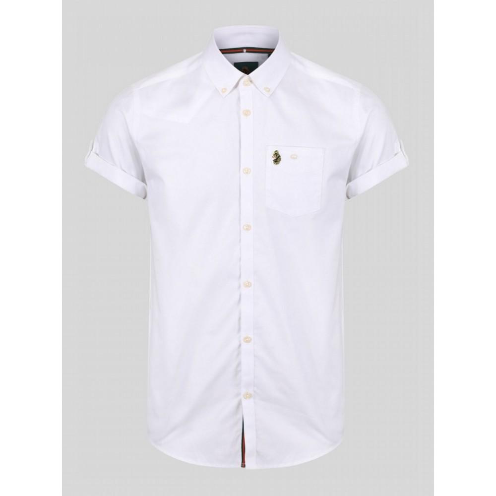 Luke 1977 Jimmy Travel Short Sleeve Shirt - White
