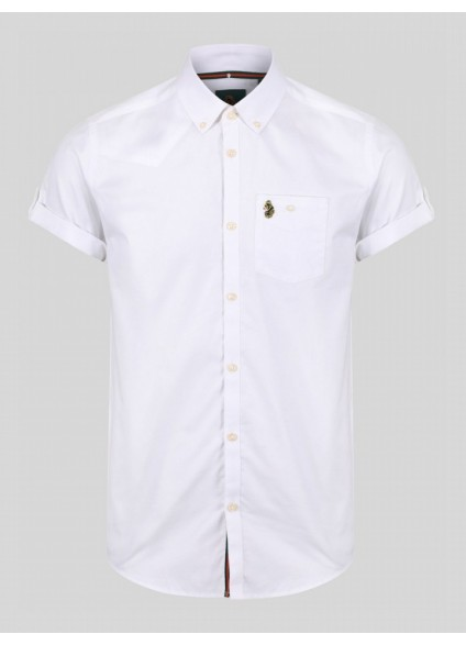 Luke 1977 Jimmy Travel Short Sleeve Shirt - White