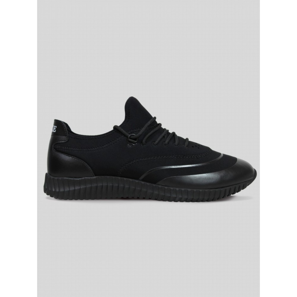 Luke 1977 Glassy Neoprene Running Trainers - All Black