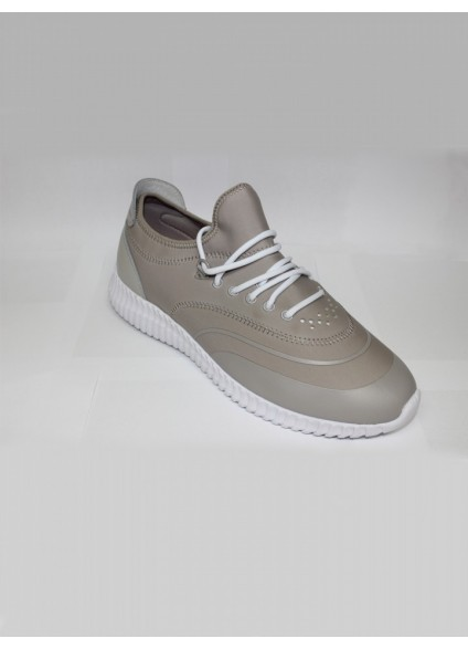 Luke 1977 Glassy Neoprene Running Trainers - Cement