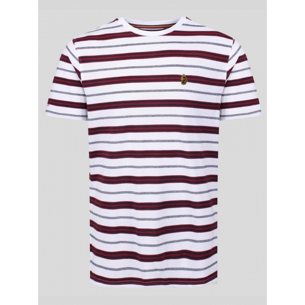 Luke 1977 Mutton Stripe T-Shirt - White Mix