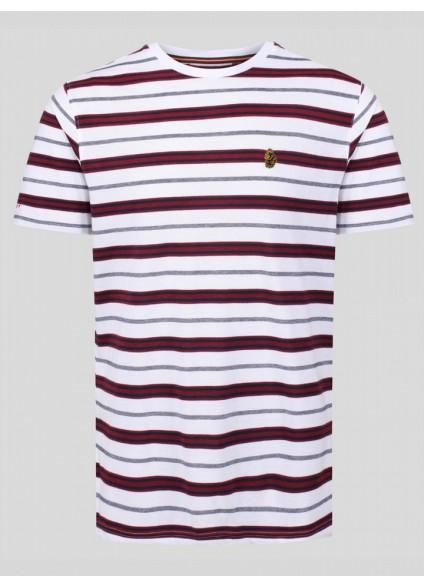 Luke 1977 Mutton Stripe T-Shirt - White Mix