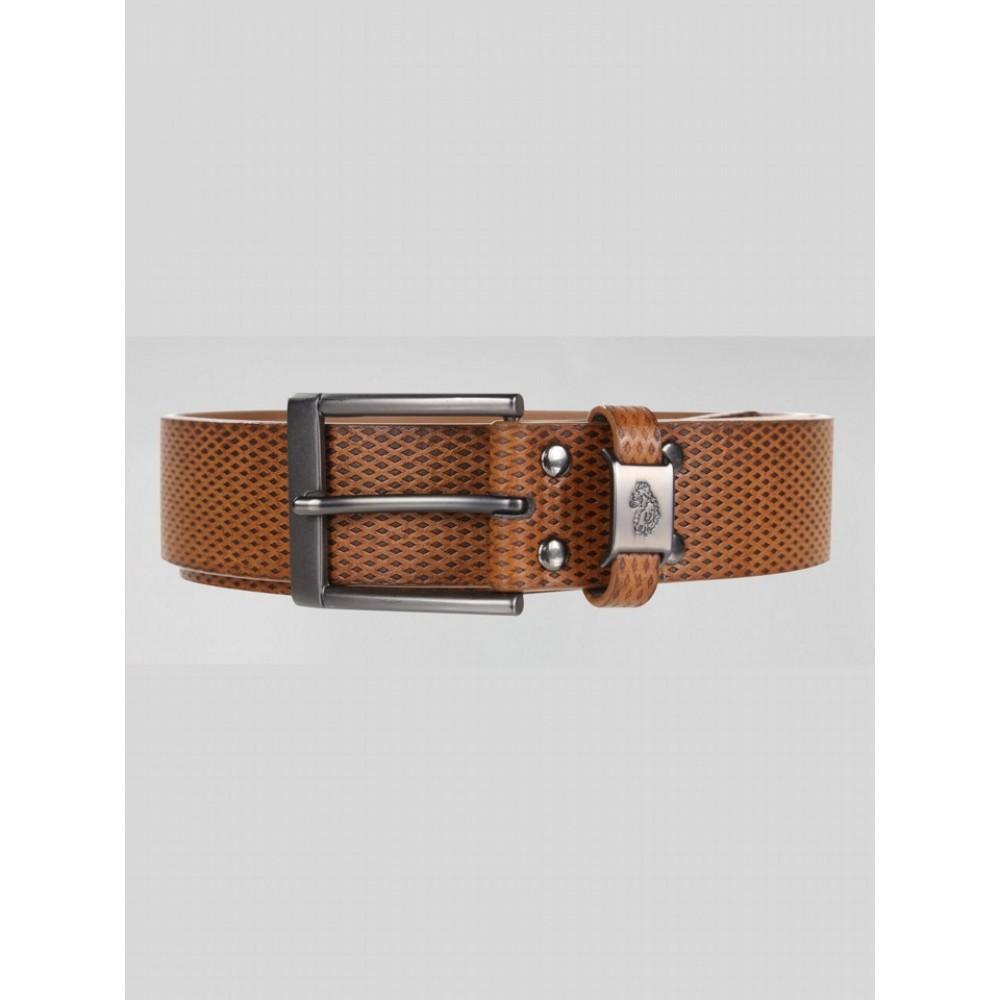 Luke 1977 Blair Textured Strap Belt - Dark Tan