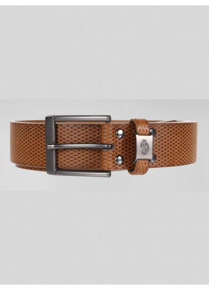 Luke 1977 Blair Textured Strap Belt - Dark Tan