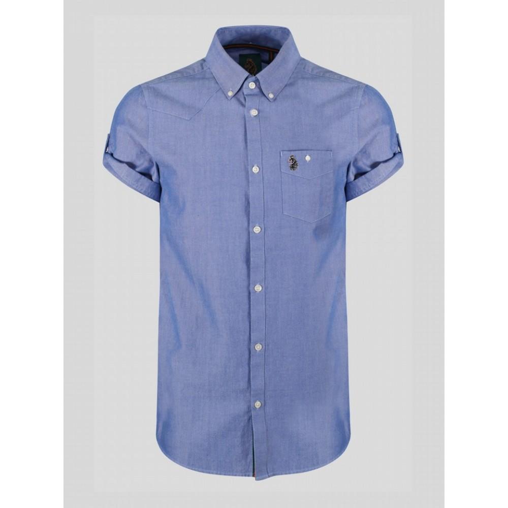 Luke 1977 Jimmy Travel Short Sleeve Shirt - Sky Blue