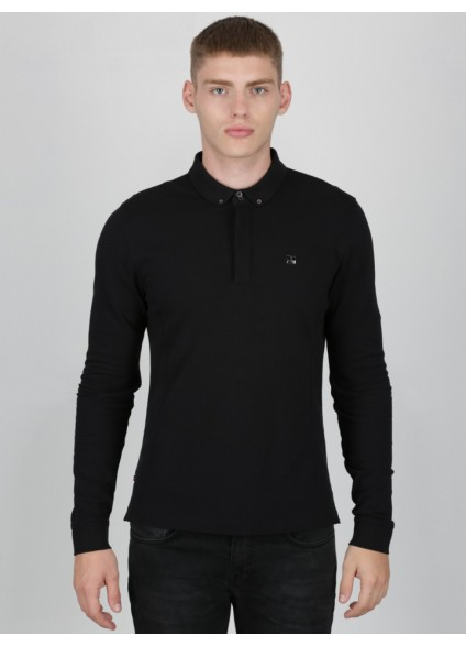 Luke 1977 Long Slolo Polo - Black