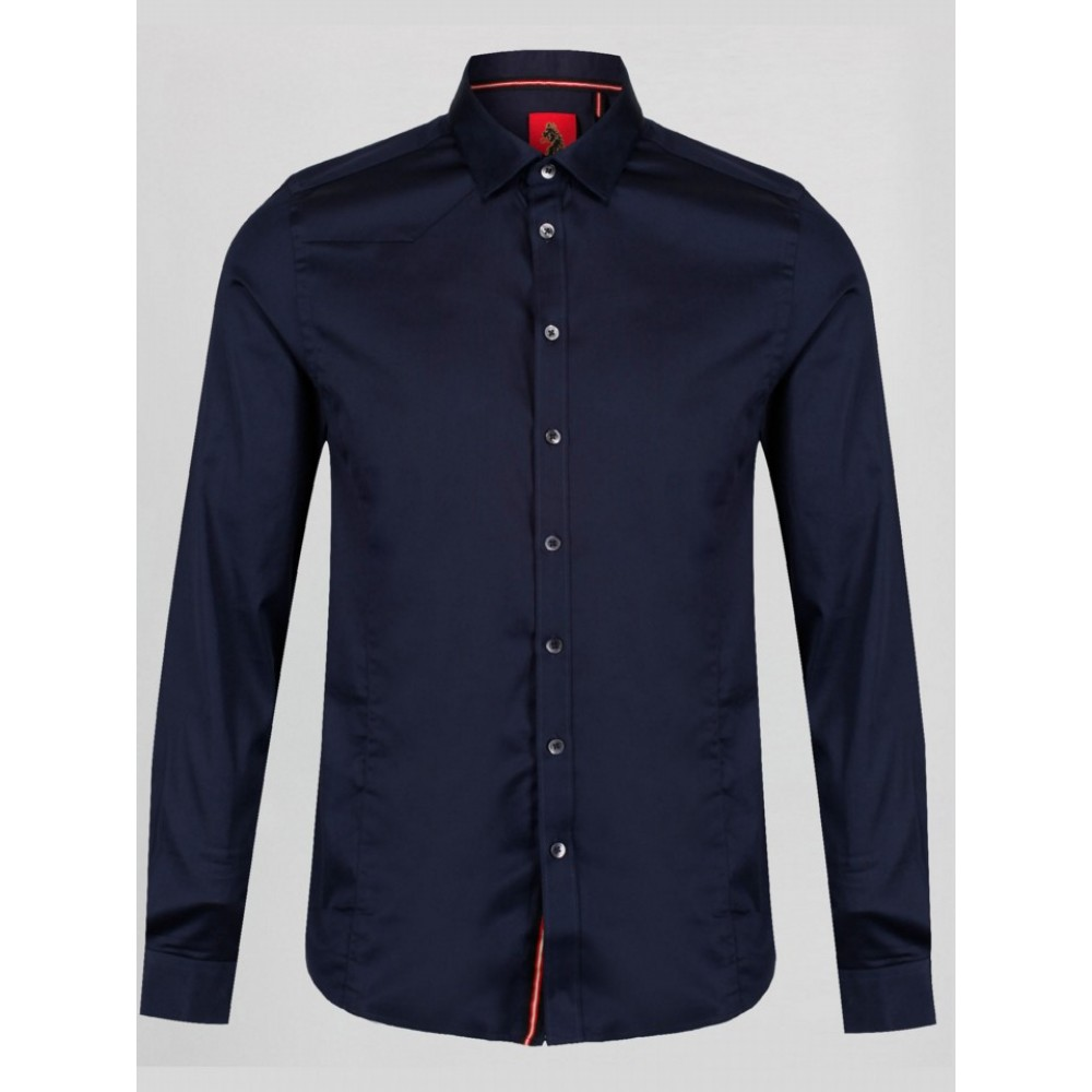 Luke 1977 Dark Navy Butchers Pencil 2 Shirt