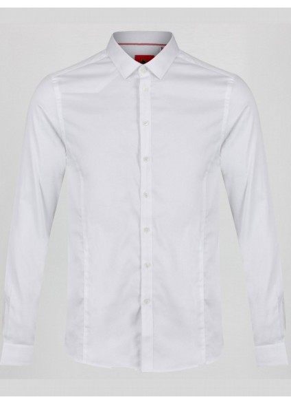 Luke 1977 Butchers Pencil 2 White Slim Fit Shirt