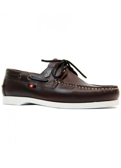 Luke 1977 Frigates Brown Leather Boat Shoes