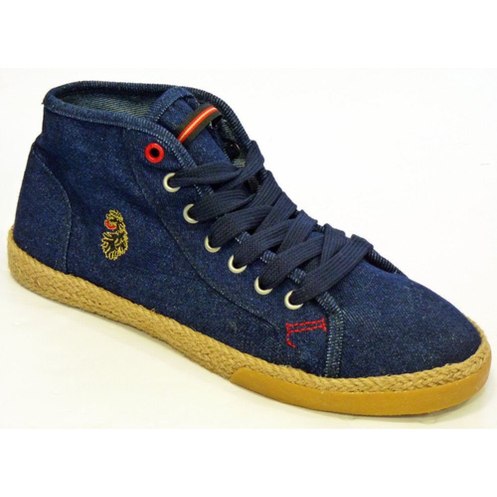Luke 1977 Barcelona Mid Plimsoll Boots - Dark Denim