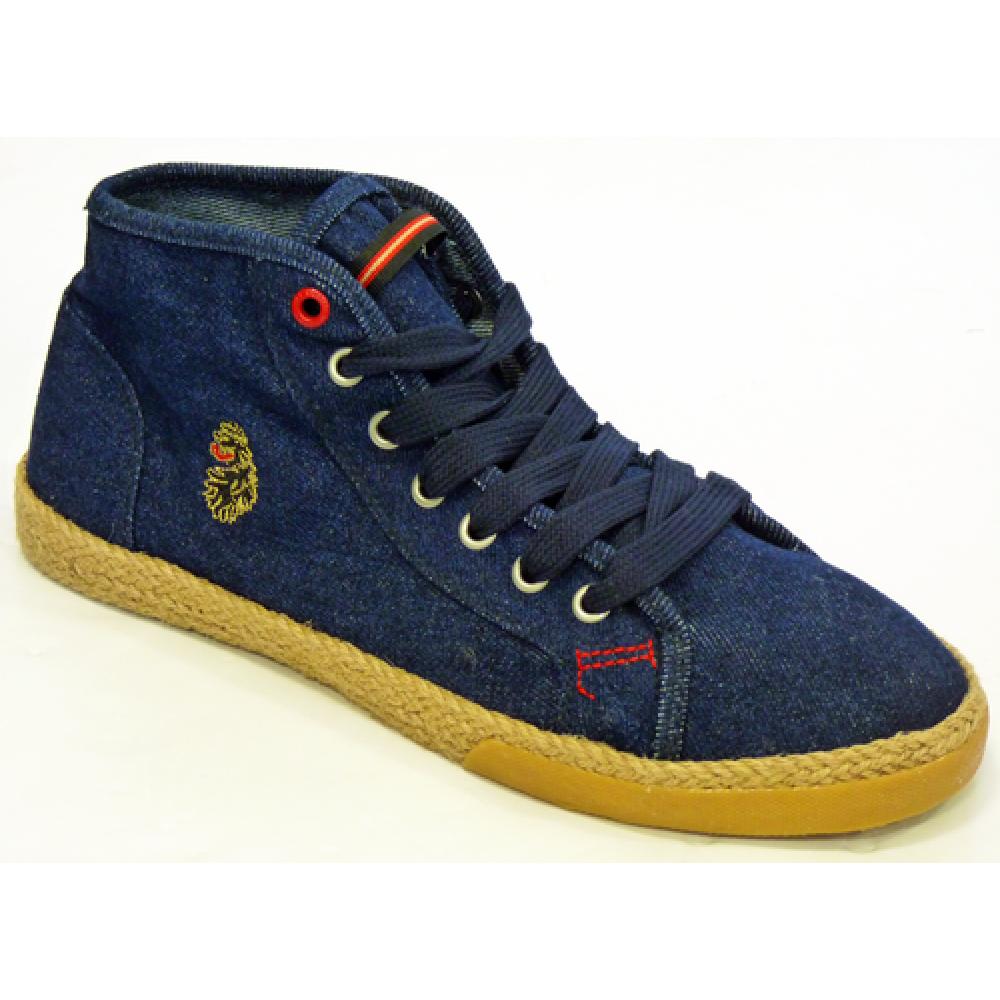 Luke 1977 Barcelona Mid Plimsoll Boots - Dark Denim
