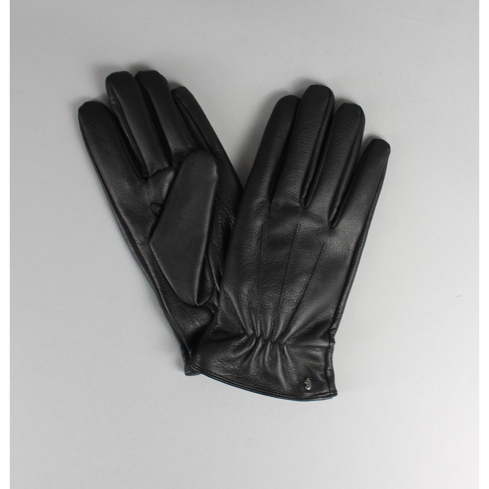 Luke 1977 Wright Black Leather Gloves