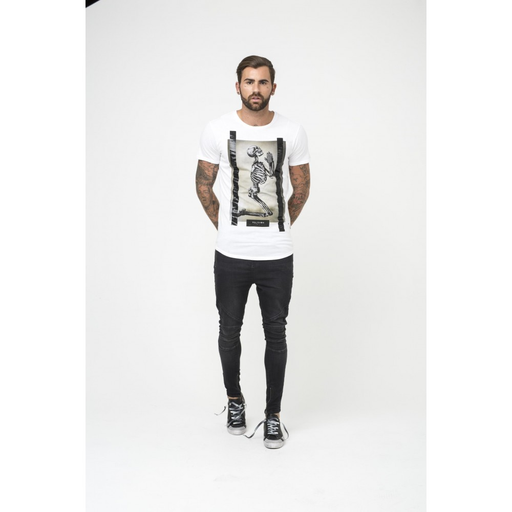 Religion Skeleton White T-Shirt