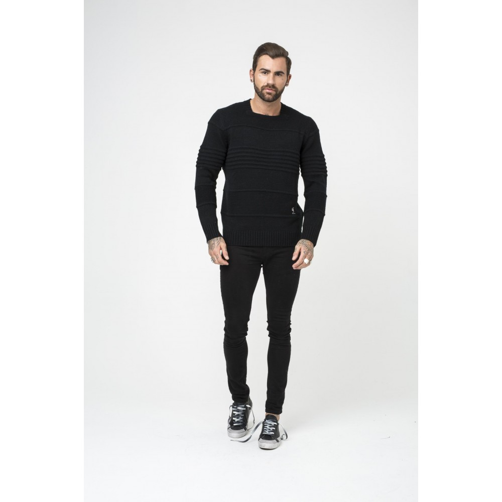 Religion Ribbed Cable Knit Jumper