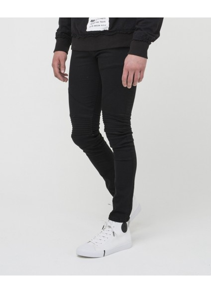 Religion Crypt True Black Biker Denim Jeans