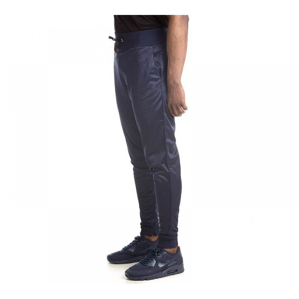SikSilk Poly Tricot Track Pants - Navy