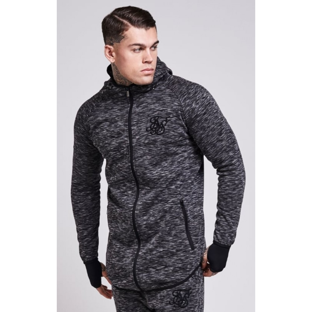 SikSilk Apex Zip Through Track Top – Dark Grey