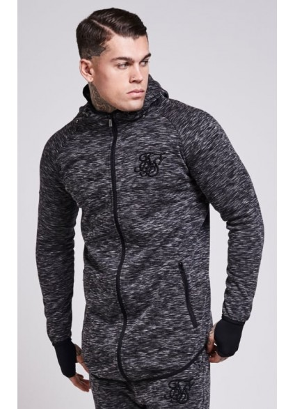 Sik Silk Apex Zip Through Track Top – Dark Grey