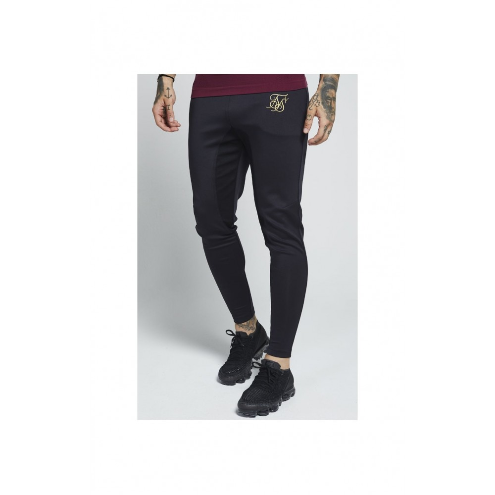 SikSilk Athlete Track Pants – Black & Gold