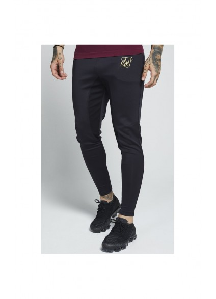 SikSilk Athlete Track Pants – Black & Gold