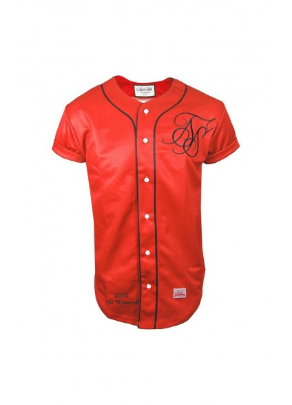 SikSilk Blood Red Baseball Jersey