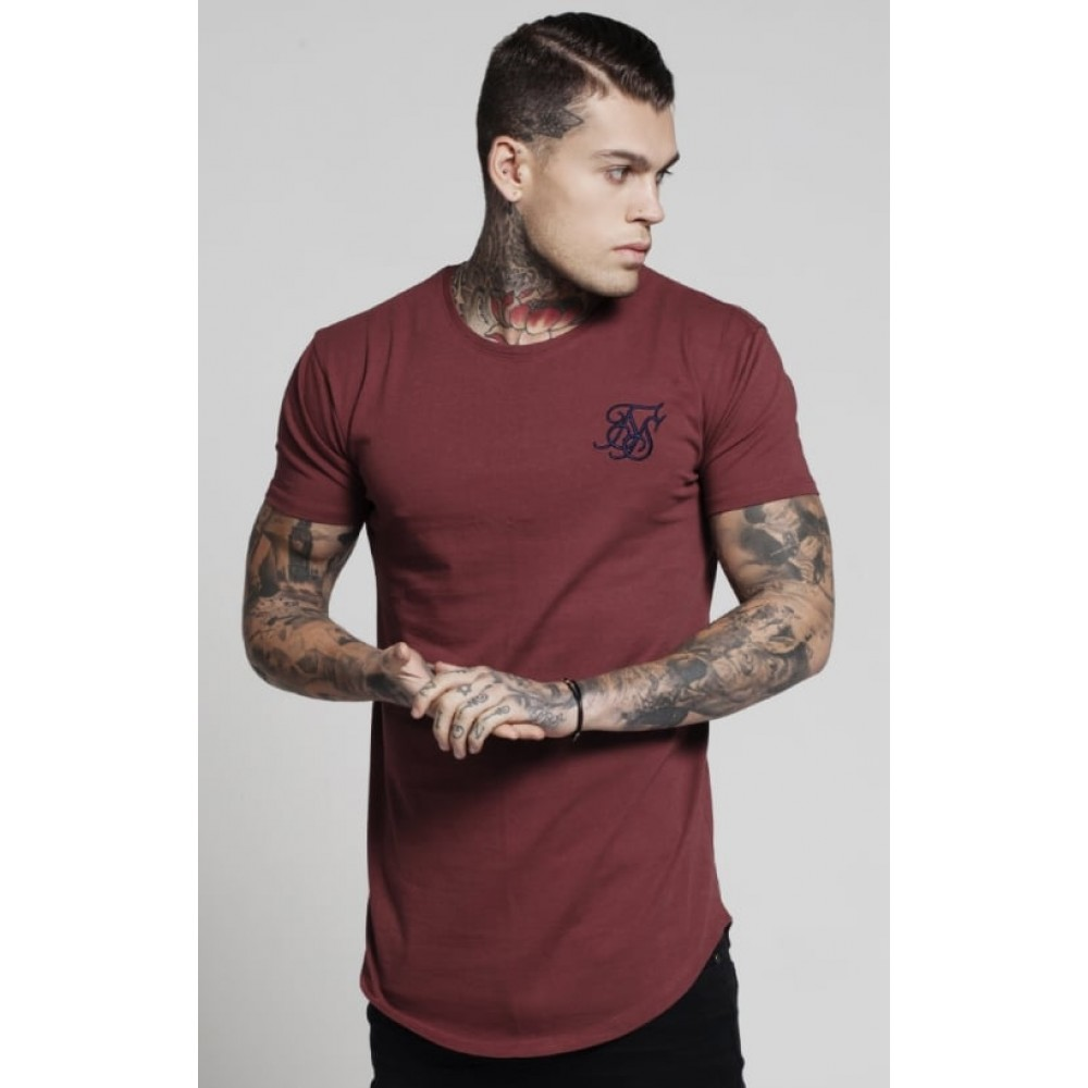 Sik Silk Curved Hem Colours – Burgundy