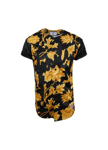 SikSilk Golden Flower Baseball Jersey