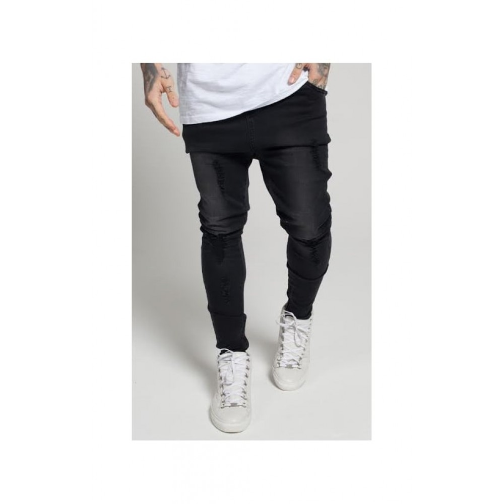 Sik Silk Rose Hareem Jeans - Black