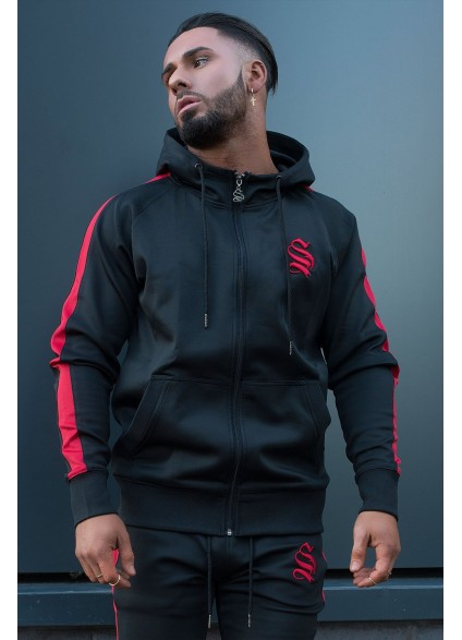 Sinners Attire Black Poly Tracksuit Hoodie