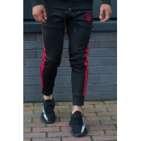 Sinners Attire Black  Poly Tracksuit Joggers