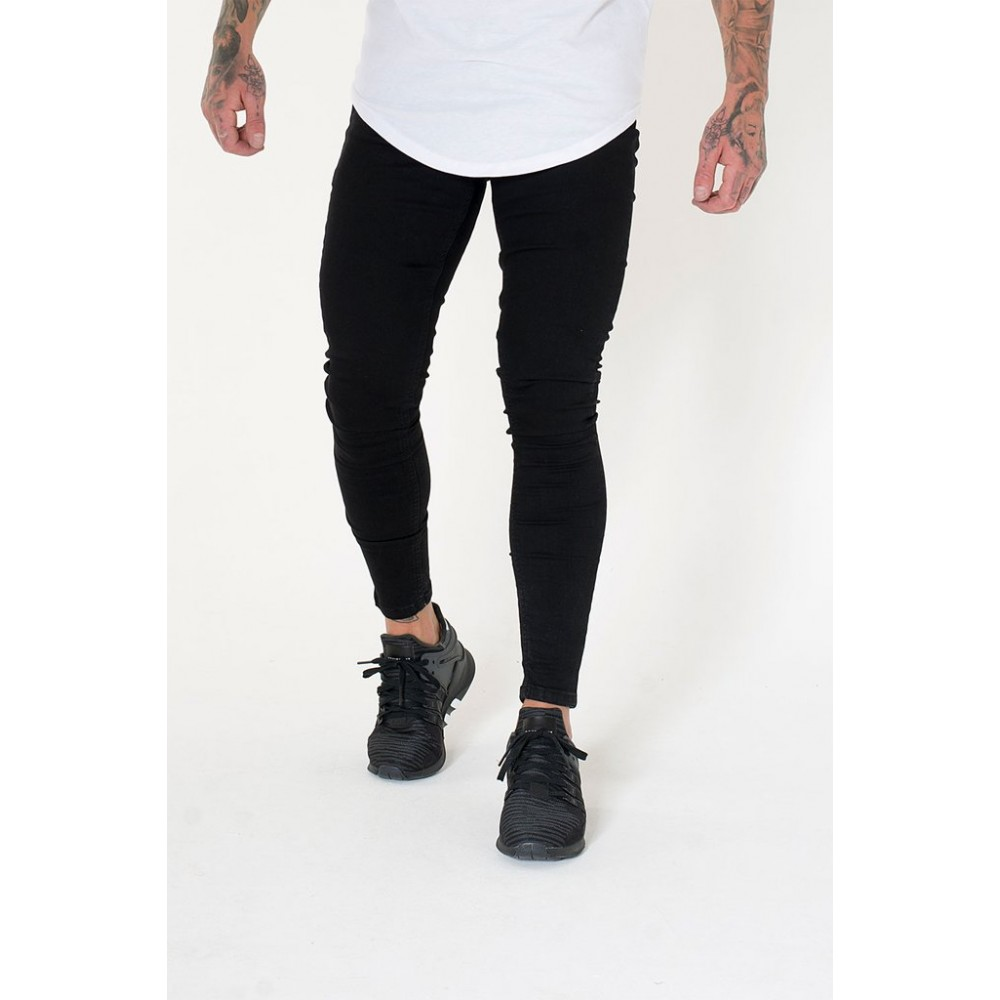 Sinners Attire Super Spray On Jeans - Black