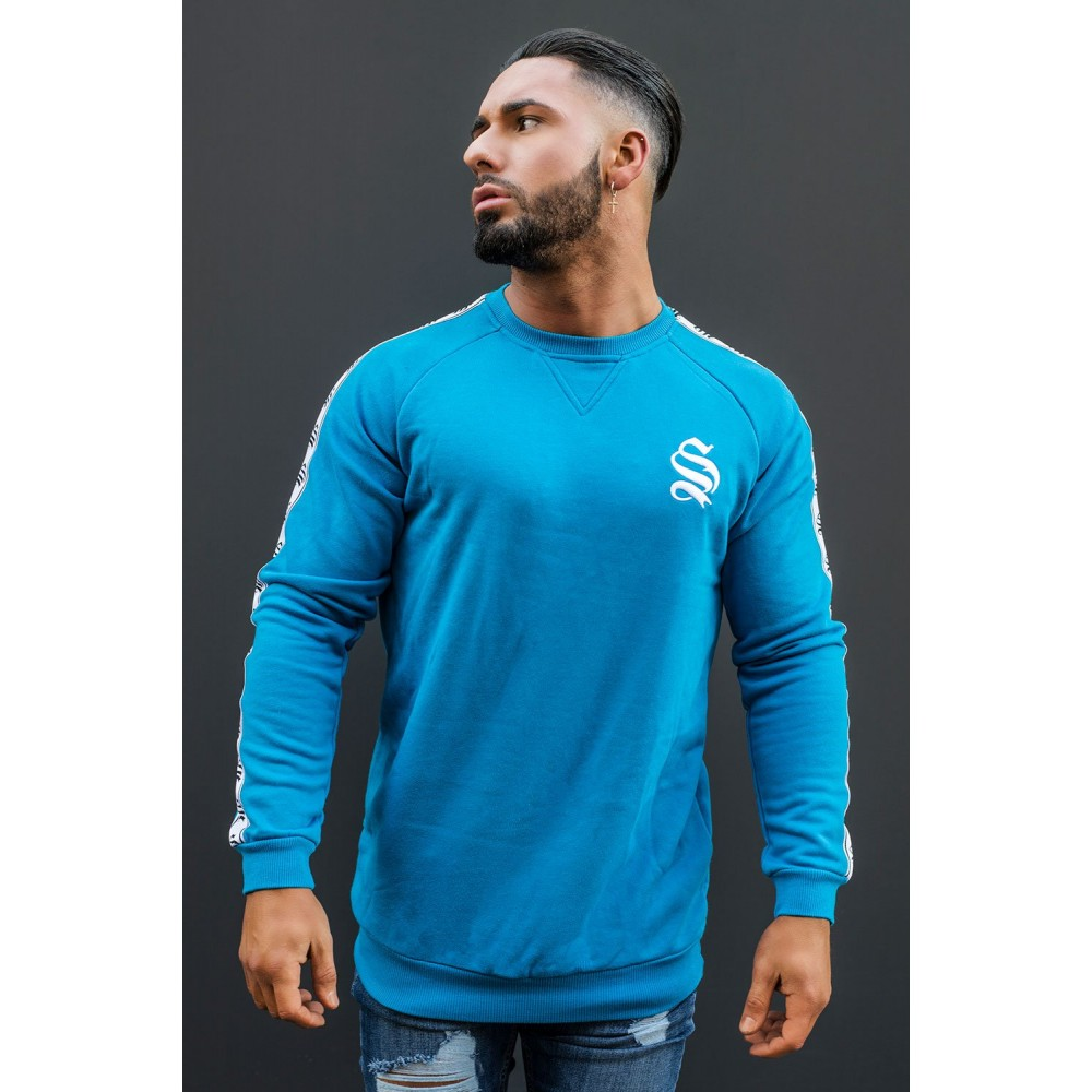 Sinners Attire Retro Sweater - Blue