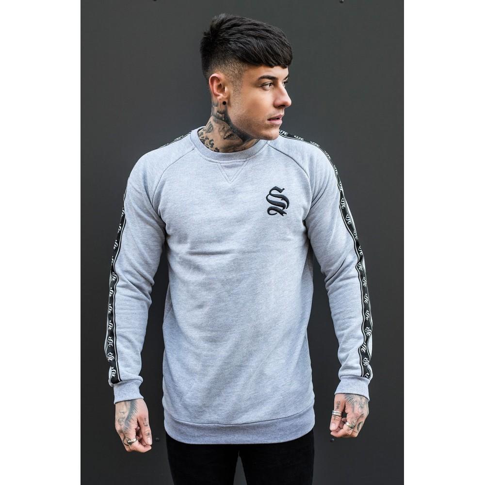 Sinners Attire Retro Sweater - Grey