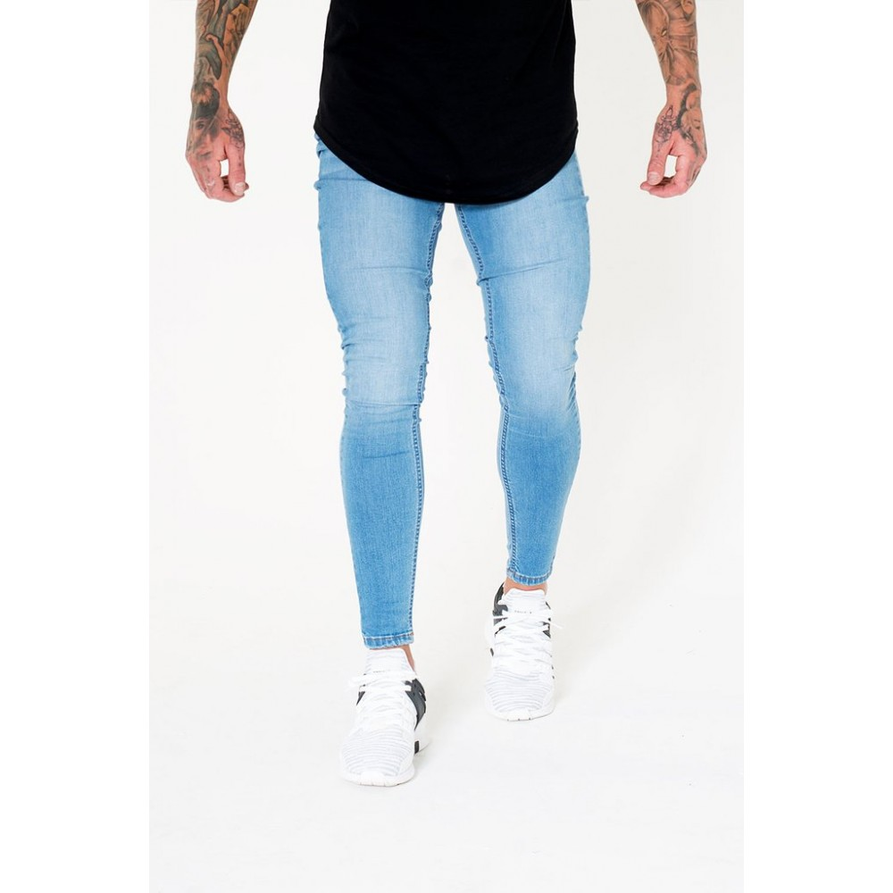Sinners Attire Super Spray On Jeans - Bleached