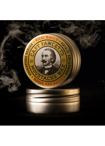 Captain Fawcett's Ricki Hall Booze & Baccy Moustache Wax
